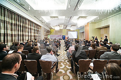 IX Annual Conference of leasing in Swissotel Editorial Stock Photo