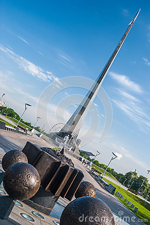 Free MOSCOW, RUSSIA - MAY 20, 2009: Monument To The Conquerors Of Space Stock Images - 62883254