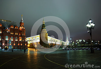 Moscow,Russia - November 19, Moscow Kremlin and the historical M Editorial Image