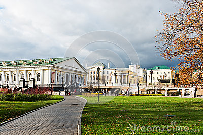 Manege Square Moscow on November 07, 2012 Editorial Photography