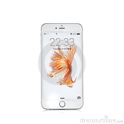 Free MOSCOW, RUSSIA - OCTOBER 06, 2015: New White IPhone 6 S Royalty Free Stock Image - 60685996
