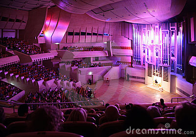 MOSCOW, RUSSIA -OCTOBER 10: Concert of organ music Editorial Photography
