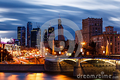 MOSCOW, RUSSIA - SEPTEMBER 9: Moscow City on Septe Editorial Photography