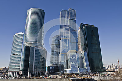 Moscow, skyscrapers