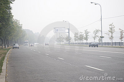 Moscow in the smog