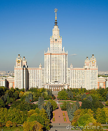 Free Moscow State University Main Building Stock Photos - 4461563