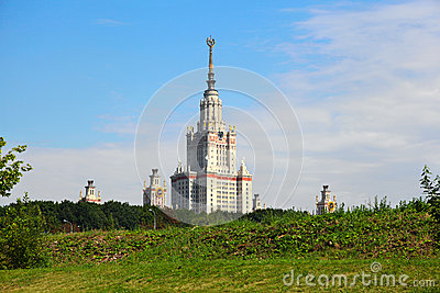 Moscow State University named after Lomonosov. MSU. MGU.