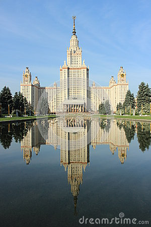 Moscow State University Named After M.V. Lomonosov Royalty Free Stock Image - Image: 25672336