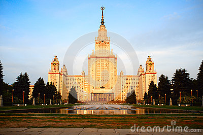 Moscow State University at sunrise
