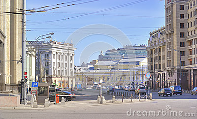 Moscow. A street is the Okhotny Ryad Editorial Photo