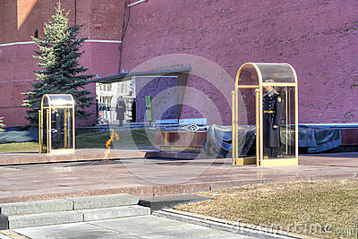 Moscow. Tomb of the Unknown Soldier Editorial Photo