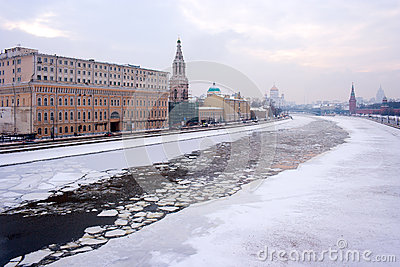Moscow winter river