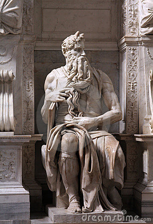 Free Moses By Michelangelo Royalty Free Stock Photos - 14319038