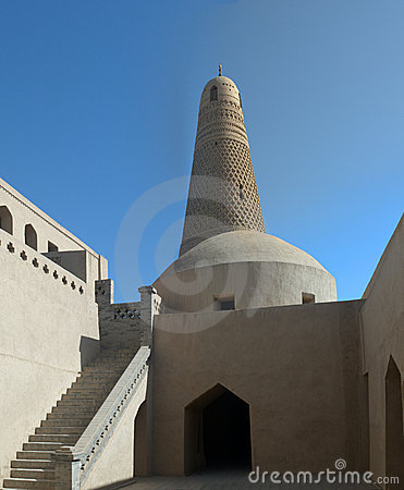 Mosk and minaret Sultan Emin. China