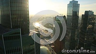 Moskau-Stadtwolkenkratzer