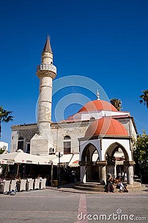 Moskee, Agora, Kos Redactionele Fotografie