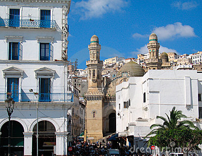 Mosque at Algiers, capital city of Algeria country