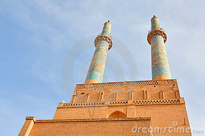 Mosque in ancient city of Yazd, Iran