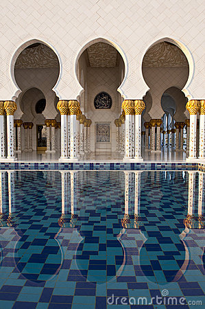 Free Mosque Arches Reflected Stock Photos - 17183473