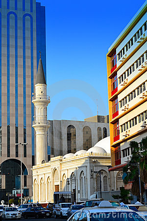 Mosque in Commercial center of Jeddah