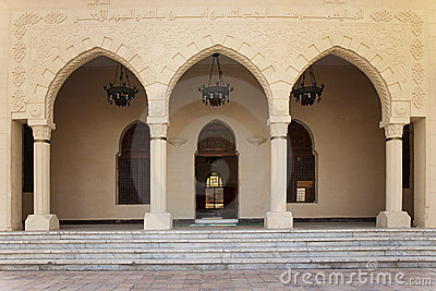 Mosque Entrance With Doors Open