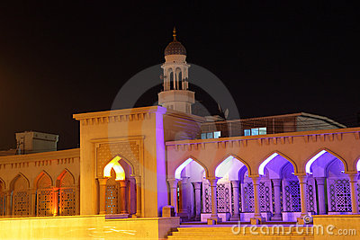 Mosque illuminated at night Oman