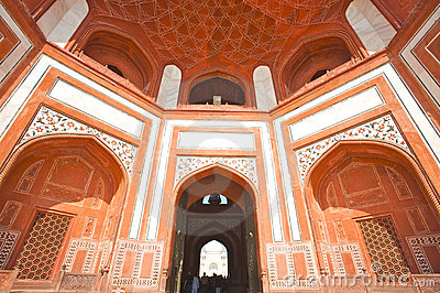 Mosque s facade of the Taj Mahal Editorial Stock Image