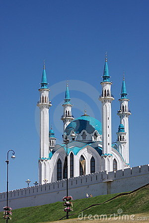 Mosque on territory of Kremlin, city Kasan