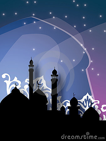 Mosques against dark