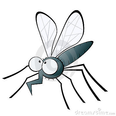 Mosquito with bent proboscis