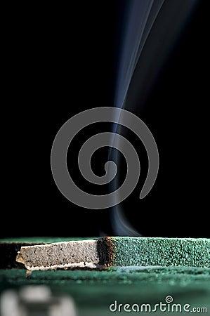 Mosquito coil smoke