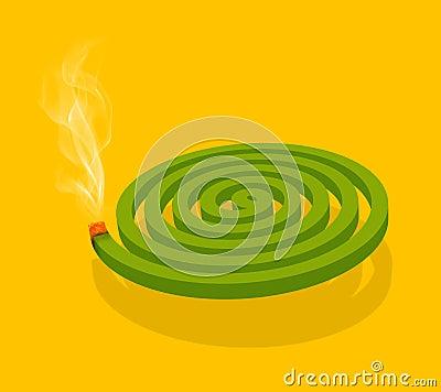 Mosquito Coil & Smoke