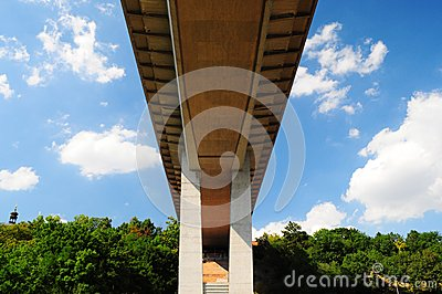 Most important viaduct in Prague, bottom view