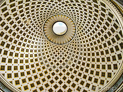 Mosta Dome, Malta, interior detail Editorial Photo