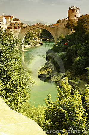 Mostar with the famous bridge