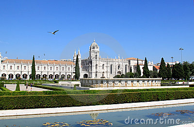 Mosteiro dos Jeronimos, Belem, Portugal Editorial Photo