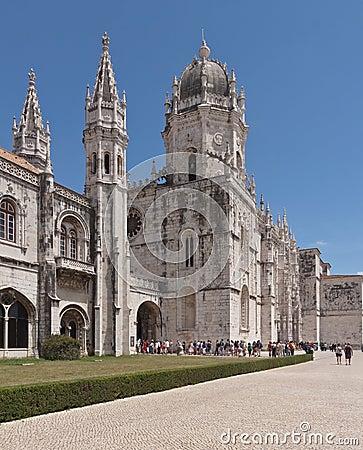 Mosteiro dos Jeronimos, old monastery in Lisbon