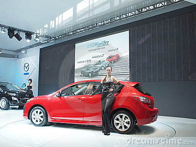 Mostra de carro Imagem de Stock Editorial