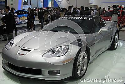 Mostra de carro dos esportes de Chevrolet Fotografia Editorial