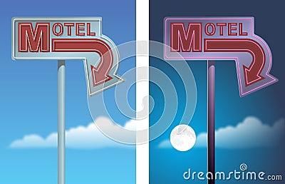 Motel Arrow Sign