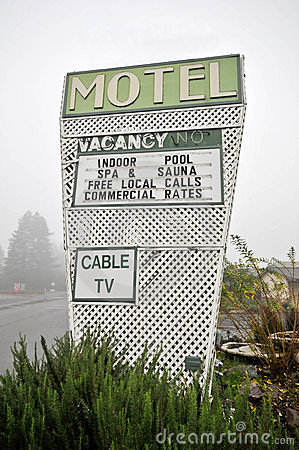 Motel sign with pool Cable TV spa sauna