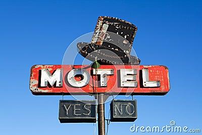 Motel sign retro style
