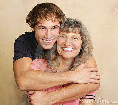 Free Mother & Adult Son Portrait Stock Images - 4065034