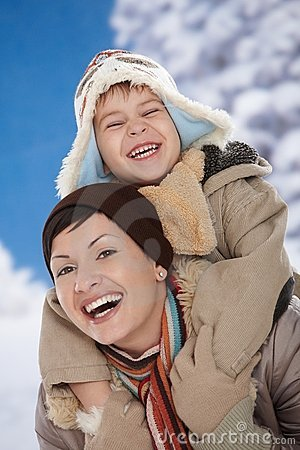 Free Mother And Child At Winter Royalty Free Stock Photo - 11578865