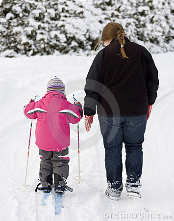 Free Mother And Child Walking Royalty Free Stock Photo - 12240325