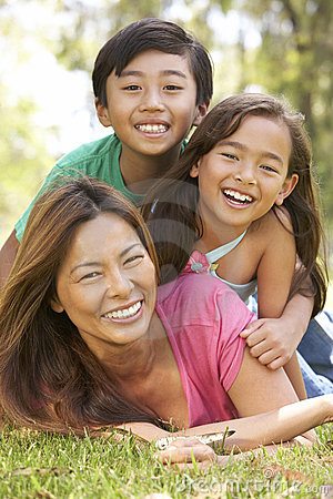 Free Mother And Children Enjoying Day In Park Stock Photo - 12405300