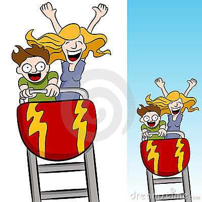 Free Mother And Son Riding A Rollercoaster Stock Photos - 19613413