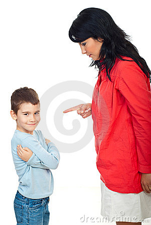 Free Mother Arguing Her Naughty Child Royalty Free Stock Image - 16312846