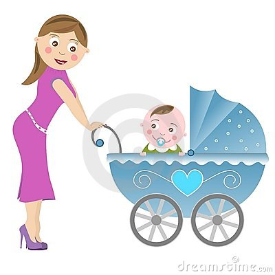 Mother and baby carriage [2]