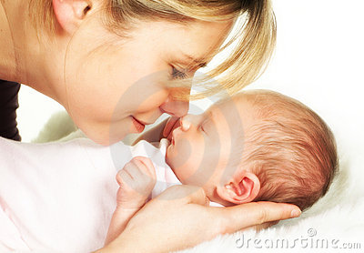 Mother baby moment of tenderness